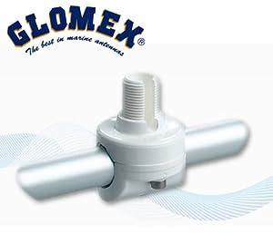 Relingshalter von Glomex RA145 für Marine GPS Empfänger und andere Geräte & UKW Antenne passend für Reling - Rohrdurchmesser von 22 - 25mm. Relinghalterung für GPS & UKW Empfänger - für Sa-320 SA-920 RA-145