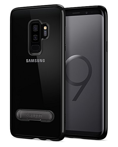 Spigen Ultra Hybrid S Galaxy S9 Plus Case with Slim Clear Protection Air Cushion Technology and Magnetic Metal Kickstand for Samsung Galaxy S9 Plus (2018) - Midnight Black [+Peso($32.00 c/100gr)] (US.AZ.14.99-0-B078KK8LRH.391656)