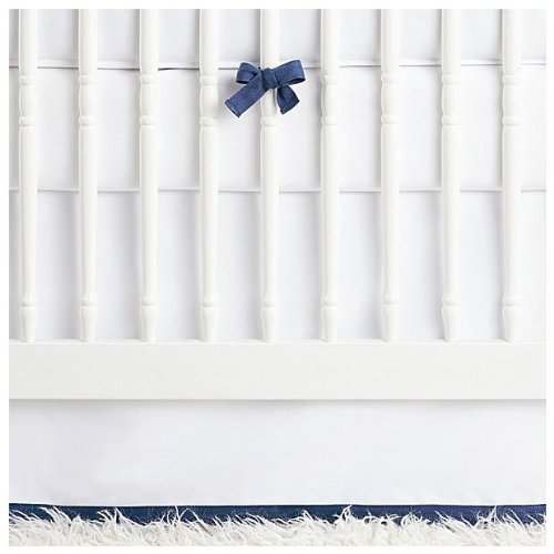 Serena & Lily Nursery Basics Crib Skirt - Navy - 1