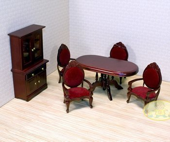 Melissa & Doug Deluxe Doll-House Dining Room Furniture