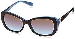 Vogue Gradient Butterfly Women's Sunglasses - (0Vo2943Sb20114855 54. 5 Azure Grad Pink Grad Brown)