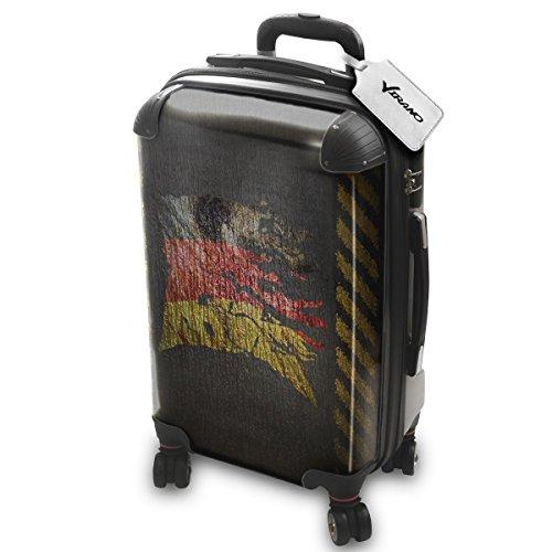 Drapeau Déchiré Allemagne, Luggage Bagage Trolley Valise de Voyage Rigide, 360 degree 4 Roues Valise avec Echangeable Design Coloré. Grandeur: Adapté à la Cabine S