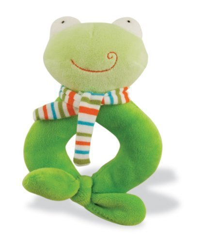 Rich Frog Happy Ring Rattles - Froggy