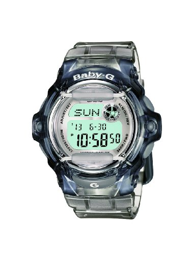 Baby-G Women's Quartz Watch with Grey Dial Digital Display and Grey Resin Strap BG-169R-8ER