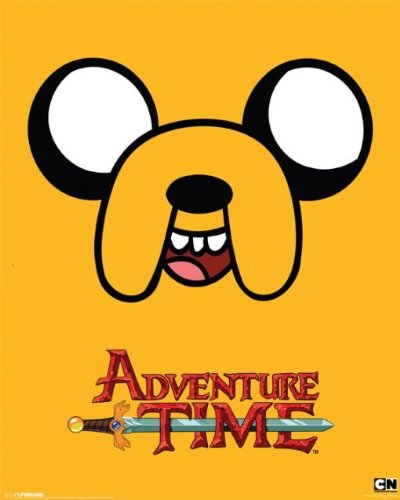 Laminated Television Mini Poster featuring Jake the Dog from Adventure Time 40x50cm