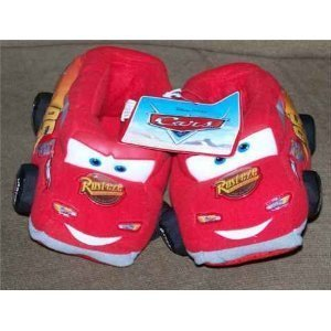 Disney Size Small Kids Shoe Size 13/1 Pixar's Cars the Movie Lightning Mcqueen Boys Slippers Great for Halloween Slippers