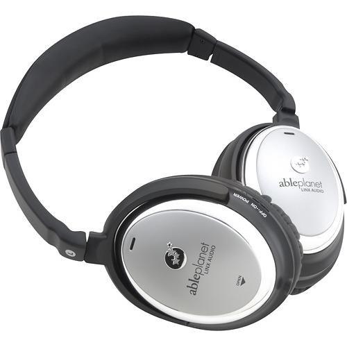 ableplanet linx audio エイブルプラネット - トゥルーフィデリティオーバーイヤーヘッドフォン - クローム nc550sc 最高の音質 特許技術 96%以上 周囲ノイズを解消 ヘッドフォン スピーカー