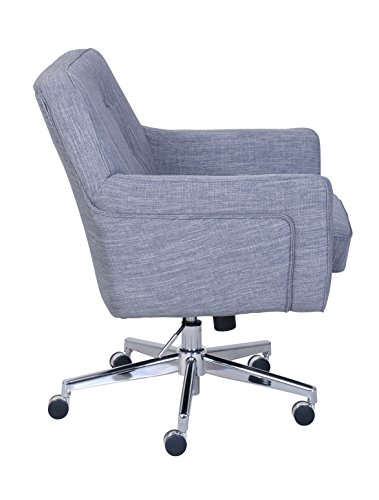 "Serta ""Ashland"" Winter River Gray Home Office Chair 3"