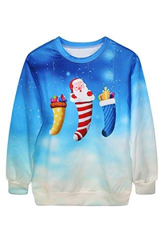 Pink Wind Hot Snowflake Dream Gift Print Christmas Sweatshirt Sweater