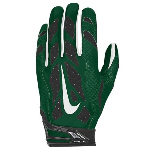 Nike Vapor Jet 3.0 Mens Green White Football Receiver Gloves (Small (Adult)) (Nike Vapor Jet Small compare prices)