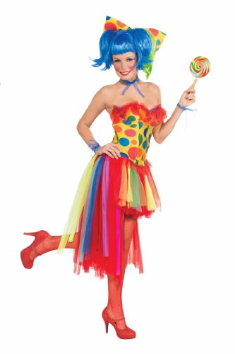 Forum Novelties Women's Circus Sweetie Adult Pippi Polka Dot Clown Costume