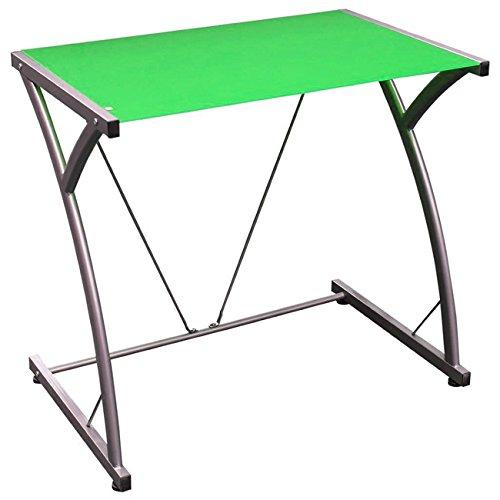 Scrivania portacomputer per ufficio e cameretta colore verde