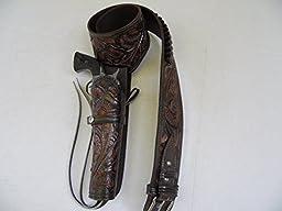 Western Cowboy Gun Belt Holster Rig - 44\