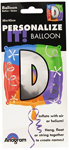 Anagram International Letter D Quad Package Balloon, 18""