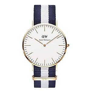 Daniel Wellington Herren-Armbanduhr XL Glasgow Analog Quarz Nylon 0104DW