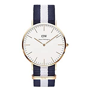 Daniel Wellington Herren-Armbanduhr XL Glasgow Analog Quarz Nylon 0104DW