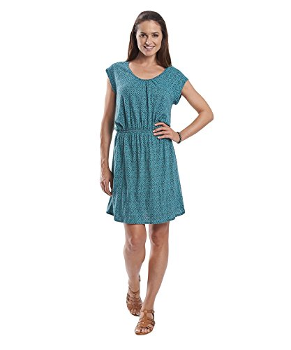 B00LTCGT1C Woolrich Women's Lakeside II Printed Knit Dress, Blue Fir Geo, Medium