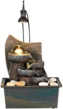 Faux Stone Four Tier with Crystal Ball Table Fountain