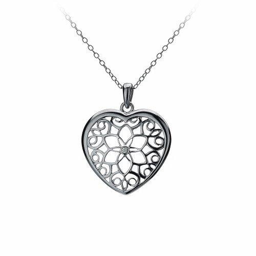 Hot Diamonds Levanter Small Heart Pendant of 42.5cm