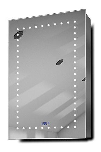 Elora-Clock-LED-Bathroom-Mirrored-Cabinet-With-Demister-Pad-Sensor-Shaver-k383