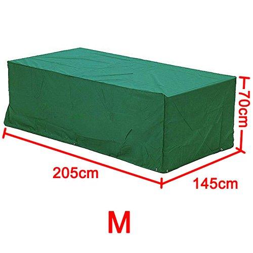 Yahee365 Wasserdichte Schutzhülle Hülle Abdeckung für Gartenmöbel Bank Tisch 205x145x70cm