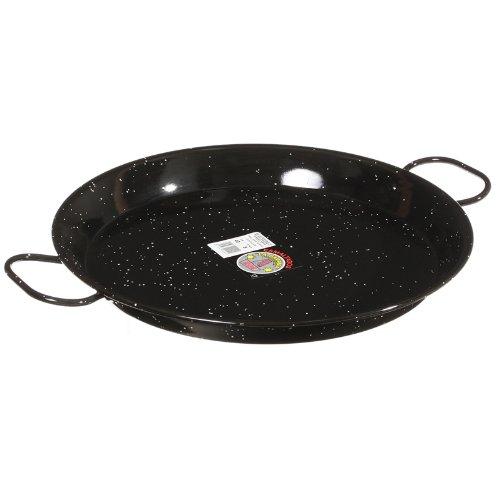 Garcima 16-Inch Enameled Steel Paella Pan, 40cm