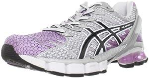ASICS Women's GEL-Kinsei 4 Running Shoe,Lilac/Black/White,12 M US
