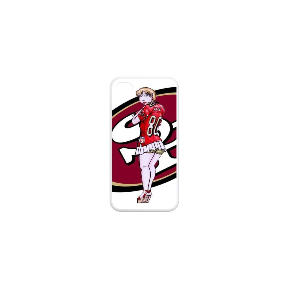 NFL Personalized & Funny San Francisco 49ers Logo Cartoon Style Case for iPhone 4, 4s£¨white£© Cell Phones & Accessories
