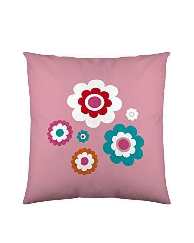 COSTURA kussensloop Dieren roze 80 x 80 cm