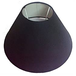 AC Lampshade Tapered Black (Size in cms: 25X25X14, Color: Black)