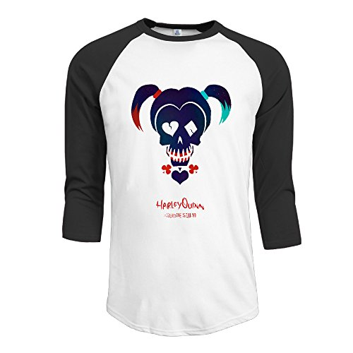 Athletic Baseball Jersey Man Cute Teeshirt With Suicide Squad Harley Quinn (Kids Harley Quinn Mallet)