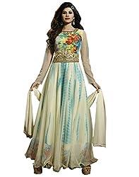 Shoppingover Women's Georgette Churidar Salwar Kameez i (10013MG_Multi-Coloured_Free Size)
