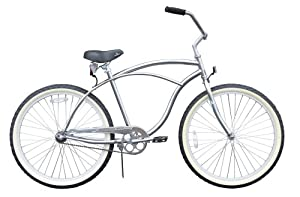 Men's Urban Man Classic Beach Cruiser Bike Color: Chrome