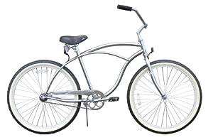 Men's Urban Man Classic Beach Cruiser Bike Color: Chrome