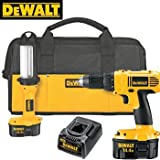 HEAVY DUTY 14.4V COMPACT DRILL AND FLUORESCENT LIG