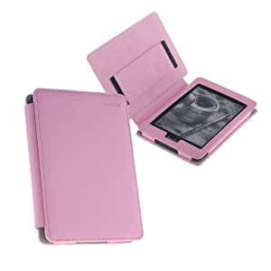TeckNet@ Amazon Kindle Paperwhite Leather Cover/Case With 2 Kindle Screen Protectors & Built-in Magnet for Sleep/Wake Feature - Pink
