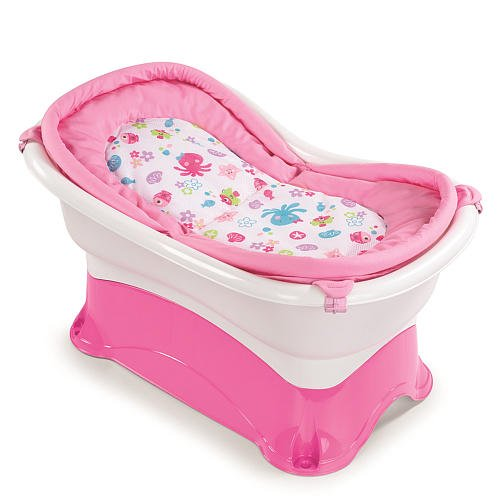Summer Infant Right Height Bath Tub - Pink front-570336