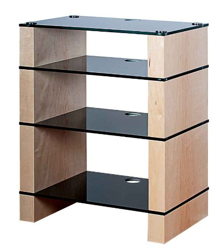 Cheap BLOK STAX DeLuxe 400 Four Shelf Maple Hifi Hifi Audio Stand & AV TV Furniture Rack Unit (B008AHJ3NU)