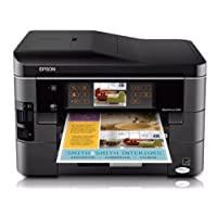 Epson WorkForce 845 Wireless All-in-One Color Inkjet Printer, Copier, Scanner, Fax, iOS/Tablet/Smartphone/AirPrint Compatible