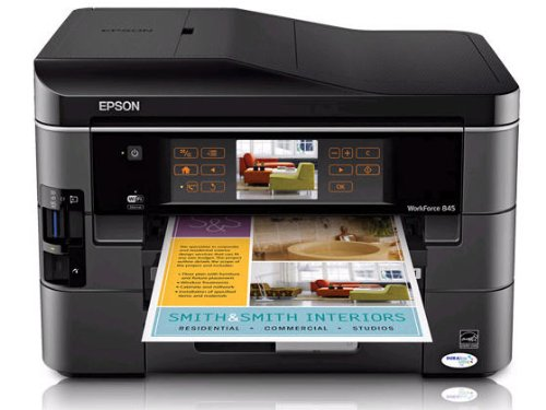 Epson WorkForce 845 Wireless All-in-One Color Inkjet Printer, Copier, Scanner, Fax (C11CB92201)