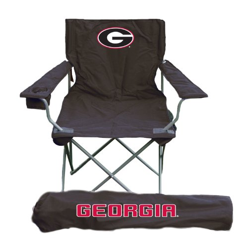 Georgia Bulldogs Black Adult Tailgate Sports Chair - Ncaa College Athletics