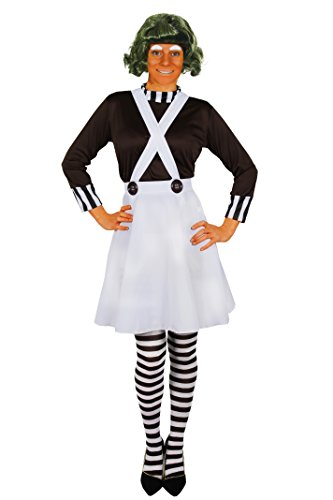 Ooompa Loompa Chocolate Factory Costume for Women. Sizes S to XXL