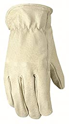 Wells Lamont Leather Work Gloves, Grain, Large (1133L)