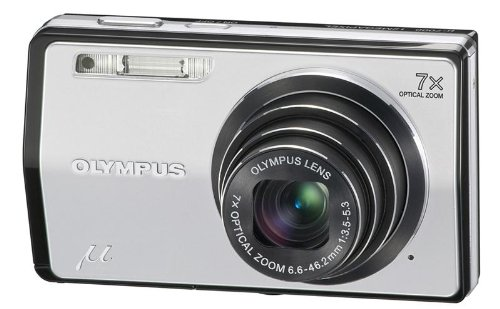 Olympus Mju 7000 Compact Digital Camera - Starry Silver (12MP, 7x Optical Zoom) 3.0 inch LCD
