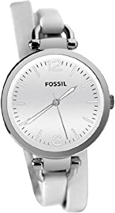 Women Watch Fossil ES3246 Dress Dress Georgia Stainless Steel Case Leather Brace Women Watch Fossil