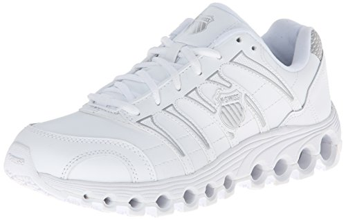 K-Swiss Men's Grancourt Tubes Slip Resistant Duty Shoe,White/Silver,10.5 M US