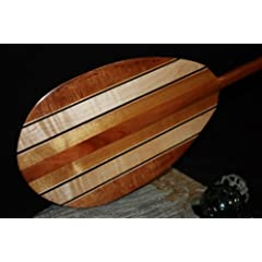 MULTIPLE STRINGERS CURLY KOA PADDLE 50 T- HANDLE by TikiMaster