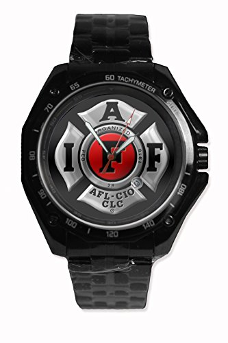 Firefighter Logo Logo Snap On Black Watch Stainless - Steel