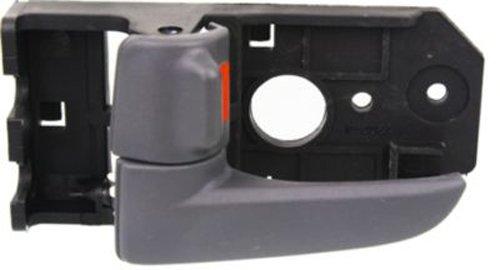 OE Replacement Front Driver Side Gray Interior Door Handle with Door Lock Button for Kia - REPK462344 (2006 Kia Spectra Door Handle compare prices)