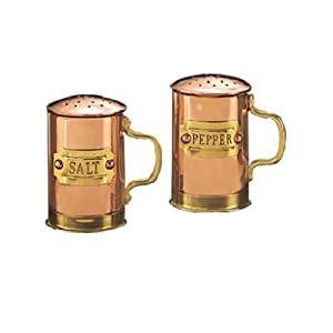 Old Dutch Decor Copper Salt and Pepper Shaker Set, 2-3/4-Inch